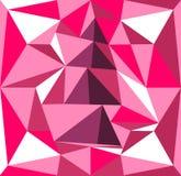 Volymträdillustration av prismor rosa purple för bakgrund Royaltyfria Foton