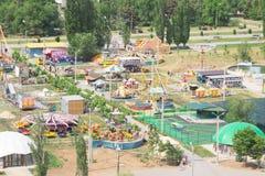 Volzhsky, Russland - 1. Juni 2019: Russischer Park ist eine Draufsicht lizenzfreie stockfotos
