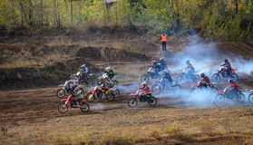 Volzhsky sand - closing season 2015. Royalty Free Stock Images