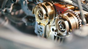 Vom Automotor, Wasserdruck, Überholung, die interne Struktur sich waschen und säubernd des Autos stock footage