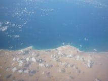 Vom Flugzeug Stockfoto