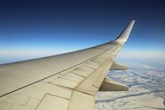Vom Flugzeugfenster stockfoto