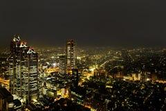 Vom freien observator des Regierungsgebäudes Tokyos Metroplitan Lizenzfreies Stockfoto