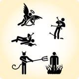 Vom Himmel und von der Hölle Stockfotos