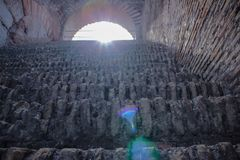 Vom inde des Kolosseums stockbilder