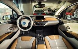 20 vom Januar 2018 - Vinnitsa, Ukraine Elektro-Mobil BMWs i3 Stockfotografie