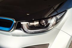 20 vom Januar 2018 - Vinnitsa, Ukraine Elektro-Mobil BMWs i3 Lizenzfreie Stockfotos
