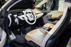 20 vom Januar 2018 - Vinnitsa, Ukraine Elektro-Mobil BMWs i3 Stockbild