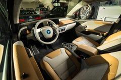 20 vom Januar 2018 - Vinnitsa, Ukraine Elektro-Mobil BMWs i3 Lizenzfreie Stockbilder