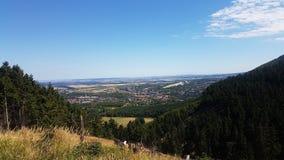 Vom Rammelsberg del auf Goslar de Blick Foto de archivo libre de regalías