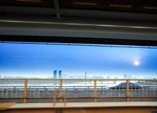 Vom Zugfenster stockfotos