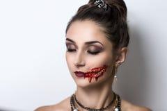 Voman zombie Stock Photography