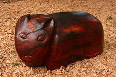 Vombato di legno Immagine Stock