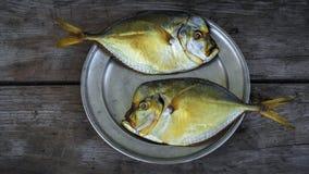 Vomer affumicato del pesce sul piatto Fotografie Stock