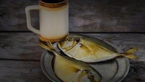 Vomer affumicato del pesce sul piatto Immagini Stock