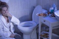 Vomissement de boulimies nerveuses photo stock