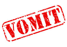 Vomit red stamp text Royalty Free Stock Images