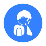 Vomiting icon. Single sick icon from the big ill, disease. Royalty Free Stock Photos