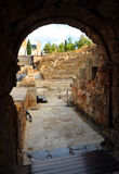 The vomitory of the Roman Theatre and Alcazaba, Malaga, Andalusia, Spain Royalty Free Stock Photo
