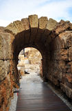 The vomitory of the Roman Theatre and Alcazaba, Malaga, Andalusia, Spain Stock Images