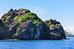 Vomo Island in Fiji. The rocks of Vomo Island in Fiji stock photos