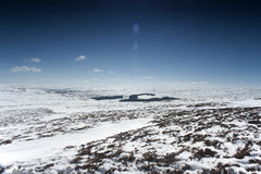 Landschaft Snowy Northumberland Lizenzfreies Stockfoto