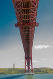 25. von April-Brücke in Lissabon Stockbilder