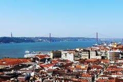 25. von April Bridge, Lissabon, Portugal Lizenzfreies Stockfoto