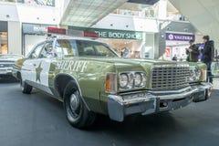 Von Ausstellung von seltenen Autos 40-70 Jahren vor vom 20. Jahrhundert Stockbild