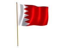 Von Bahrein silk Markierungsfahne Lizenzfreie Stockfotografie