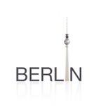 Von Berlin fernsehturm Stockfotos