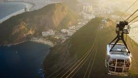 Von Copacabana zum Sugarloaf Lizenzfreie Stockfotografie