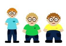 Von dünnem zum fetten Kind Lizenzfreies Stockbild