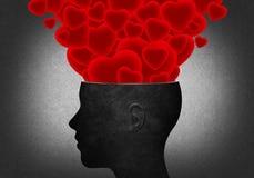 Von dem Kopf viele Herzen Lizenzfreie Stockfotos