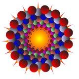 Von den verschiedenen Farbenkugeln Stockfoto
