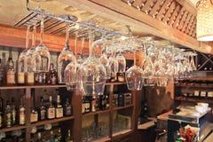 Von den Weingläsern Lizenzfreies Stockbild