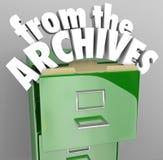 Von der Archiv-CAB-Datei holen Sie historische Rekorde zurück vektor abbildung