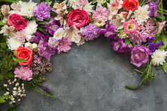 Von der Blumenfeldserie Stockfotografie