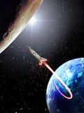 Von der Erde zum Mond Lizenzfreie Stockfotografie