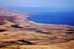 Von der Feldküstenlinie Stockfoto