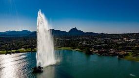 Von der Luft, Brummen-Ansicht von Brunnen-Hügeln, Arizona-Park stockbild