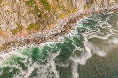 Von der Luft: Die berühmten Spitze des ambulanten Händlers nahe Hout-Bucht stockfotos