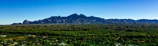 Von der Luft, Panoramablick über Tubac Arizona stockfoto