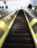 Von der Metro steigen Stockfotografie