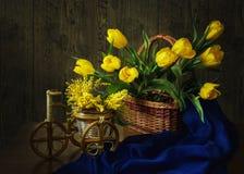 Von der Reihe in Richtung zum Frühling stockfotos