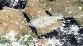 Von der Stadt von Dschidda zur Hauptstadt Riad stock video