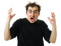 Von der Verzweiflung einen Mann schreien Lizenzfreie Stockfotos