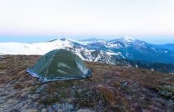 Von einem Zelt bedeckt mit Frost Lizenzfreie Stockfotos