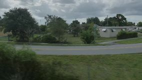 Von einem Zugfenster stock video footage