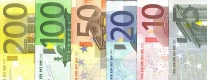 Von Euro 5 bis 200 Stockbild